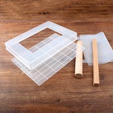 烘焙活底牛轧糖磨具家用diy雪花酥不粘盘带切割线手工牛轧糖工具