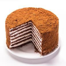 休闲零食奶油夹心糕点 俄罗斯提拉米苏蛋糕500g双山奶油蛋糕