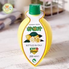 烘焙原料 12瓶/箱 意大利原裝進口EUROFOO黃檸檬汁200ml