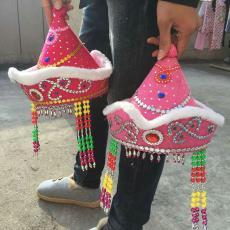 表演舞蹈道具 內蒙古少數民族帽子 廠家直銷 皇冠帽 蒙古帽