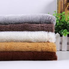 【新品】素色PV绒面料 服装针织面料现货 毛毯围巾绒布面料