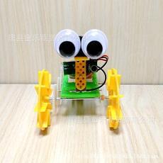 DIY科技小制作小發明 聲控機器人瓦力號 益智拼裝玩具 電動機器人