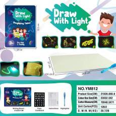 美国亚马逊欧洲热卖爆款玩具产品 draw light夜光发光写字板 with