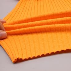 GL0015爆款中坑條8*3純棉羅紋布料 針織童裝面料 32S高彈拉架棉布
