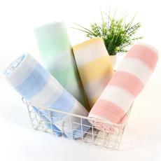純棉母嬰嬰幼兒口水巾面料 廠家直銷94*78密度  三層彩條紗布坯布