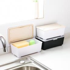 0881桌面收纳盒化妆品盒子塑料磨砂带盖文具收纳整理盒批发