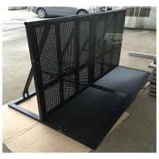 防暴铁马 承接加工生产 黑色铝合金防护栏 铝合金防爆防撞铁马