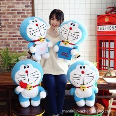 叮当猫机器猫毛绒玩具蓝胖子布娃娃儿童礼物定制 日本哆啦a梦公仔
