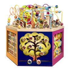比乐B.Toys青年大学活动木立方串珠多功能六面体绕珠宝宝益智玩具