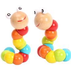 厂家批发木制百变彩色毛毛虫扭扭虫儿童宝宝仿真模型玩具益智积木
