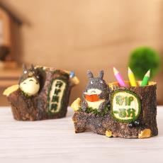 日式卡通zakka杂货学生儿童小礼品 创意树脂工艺品胖猫笔筒摆件