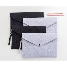 A4文件袋档案袋简约毛毡公文包学生试卷收纳袋资料袋文教办公用品