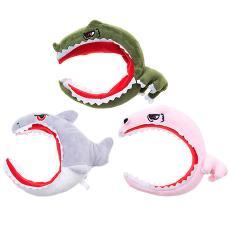 抖音爆款可爱发箍海绵发箍网红款卡通鲨鱼箍绒布发箍毛绒玩具发箍