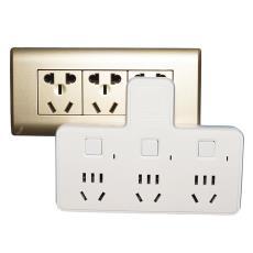 多功能无线扩展电源家用插座一转三开关转换器插头排插板