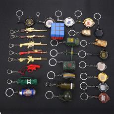 绝地求生钥匙扣awm98K狙击枪步枪金属模型钥匙圈吃鸡挂件周边礼品
