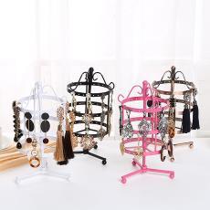 创意铁艺饰品架首饰架耳饰收纳架批发 可旋转四层耳环展示架