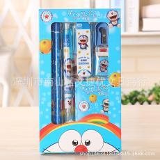 新款文具套装定制铅笔卡通卷笔刀橡皮儿童文具一件代发 厂家直销