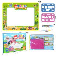 跨境新大号神奇儿童水画布恐龙清水显彩色涂鸦绘画板益智玩具定制