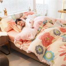 秋冬保暖雪花绒四件套防静电双面法兰绒加厚珊瑚绒四件套床上用品