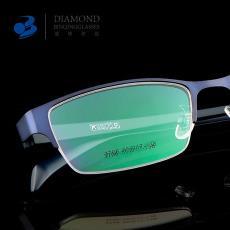 厂家直销新款男女商务半框眼镜框超轻TR平光镜时尚近视眼镜架3706