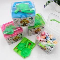 批发橡皮泥方盒工具箱手工彩泥儿童益智DIY手捏泥环保玩具文具
