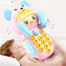 儿童玩具手机可充电可咬防口水婴儿益智音乐宝宝0-1-3岁6电话摇铃