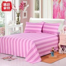 厂家直销全棉老粗布床单三件套透气舒适床上用品枕套被套套件批发