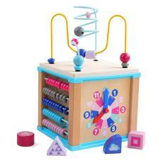厂家巧之木儿童绕珠百宝箱宝宝串珠积木幼儿五合一益智玩具多功能