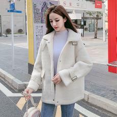 2019冬新款韩版宽松黄金貂外套皮毛一体大衣女