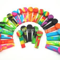 欧美流行硅胶烟斗 携带型硅胶烟斗厂家直销 环保电子烟带金属
