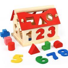 智慧屋数字婴儿益智玩具 过年热卖景区庙会货源木制拼图积木玩具
