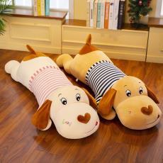 新款羽绒棉情侣趴狗毛绒玩具公仔萌宠狗抱枕玩偶创意儿童生日礼物