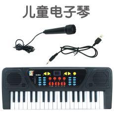亚马逊抖37键电子琴带麦克风儿童益智音乐器材玩具教具钢琴琴谱