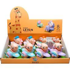 儿童益智早教玩具惯性小萌萌猪卡通飞机8只装幼儿园赠品礼品 包邮