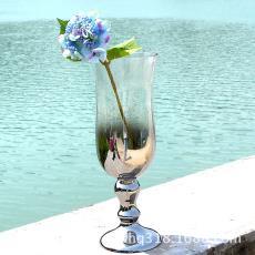 北欧玻璃花瓶欧式客厅摆件家居婚庆装饰美式高脚玻璃花瓶