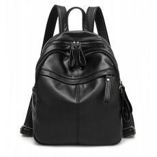 双肩包女韩版潮流软皮书包2018新款百搭个性女包休闲背包