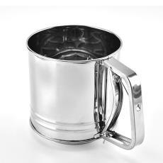 现货 厂家直销手持式大号面粉筛 烘培工具 不锈钢杯式面粉筛