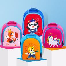 动物卡通可爱潜水料双肩背包 儿童书包 幼儿园书包 印字加logo