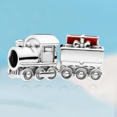圣誕禮物火車珠子 潘家珠子 DIY手鏈配件 S925純銀