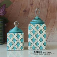 景德鎮陶瓷器歐式做舊感浪漫家居裝飾客廳/玄關創意樣板房擺件