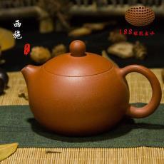 黑金砂 西施  卡蓋 170ml 產地批發 一件代發 宜興紫砂 朱泥 壺