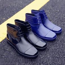 韩国短筒雨鞋男士低帮雨靴防滑防水鞋胶鞋时尚潮流厨师鞋水靴