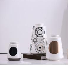 簡約陶瓷擺件大花瓶客廳插花瓷器創意家居軟裝飾工藝品擺件
