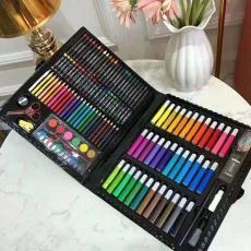 批发150色绘画笔水彩笔套装绘画笔蜡笔美术画笔套装礼盒文具用品