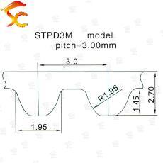 黄铜S3M-18齿-内孔8-齿面11-高23MM 同步轮 螺丝机齿轮 黄铜带轮
