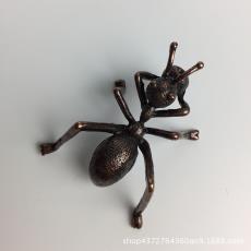 創意仿純銅螞蟻香插香線銅藝茶寵擺件 功夫茶玩配件 紫砂鐵壺蓋置