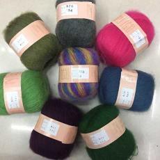細羊毛線 羊毛紗線 可拉伸安哥拉馬海毛圍巾披肩編織線