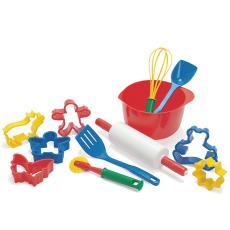丹麥DANTOY兒童玩具過家家廚房仿真廚具炊具烹飪烘烤工具套裝