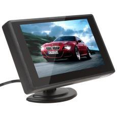 家用高清带倒车优先切换后视摄像头画面 4.3寸吸盘式显示器