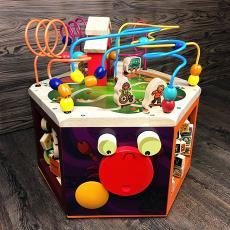 大号六面多功能绕珠木制益智早教玩具儿童绕珠1-3-5岁7.86